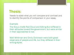 compare  contrast expository essay point by point flip flop  thesis needs to state what you will compare and contrast and to identify the points