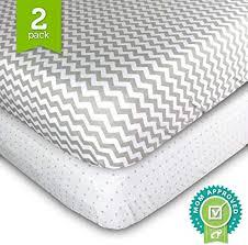 <b>Crib Cot</b> Sheets Set - 2 Pack - Fitted, <b>Soft</b> Jersey <b>Cotton Crib</b> ...