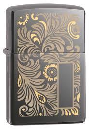<b>Зажигалка ZIPPO Luxury</b> Venetian с покрытием Black Ice®, латунь ...