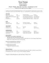 acting resume template word microsoft resume cover letter example acting resume template word microsoft