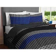 tween bedding sets for boys boy blue gray black circle dot grid stripe twin comforter bedding sets twin kids