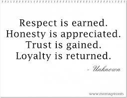 Quotes About Respect And Honesty. QuotesGram via Relatably.com