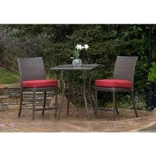crossman piece outdoor bistro: rushreed balcony height  piece outdoor bistro set seats