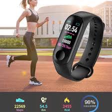 <b>M3 Smart Watch</b> Heart Rate Monitor Fitness Tracker Smartwatch Full ...