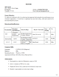 Professional Resume Format for Fresher Engineer JobStreet com