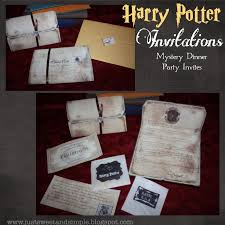 just sweet and simple harry potter mystery dinner party invitations harry potter mystery dinner party invitations