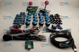<b>Arcade parts Bundles kit</b> With Joystick,chrome Pushbutton ...