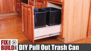 DIY <b>Pull</b> Out Trash Can in a Kitchen <b>Cabinet</b> | How to - YouTube