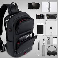 FRN <b>Multifunction</b> Men <b>Backpack</b> USB Charging Wateproof...