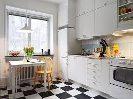 idea scandinavian kitchen  checkerboard floor scandinavian kitchen