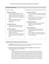 student led conferences scholastic here s a copy of the protocol i share families before the student led conferences