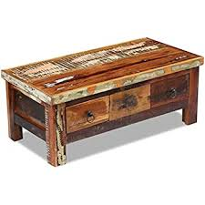 vidaXL <b>Solid Reclaimed</b> Wood <b>Storage Chest Box Trunk</b> Coffee ...