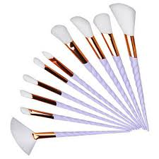 <b>10PCS Spiral Makeup</b> Brushes Cosmetic Brushes Set Eyeshadow ...