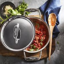 All-Clad d5 <b>Stainless</b>-<b>Steel Round</b> Dutch Oven | Williams Sonoma