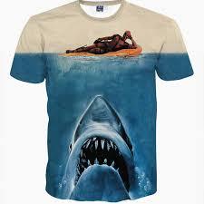 3d animal <b>t shirt</b> printed deadpool <b>t shirt</b> with <b>shark</b> head blue animal ...