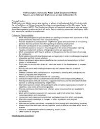 Community Outreach Resume Sample       Community Action Duluth Employment Mentor Resume cover letter