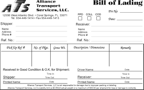 sample of bill of lading pdf template microsoft word templates format bill of lading template