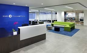 bmo real estate groups ibi interiors designed marketing department office image by david whitaker bank and office interiors