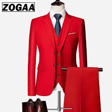 <b>ZOGAA</b> 2019 High Quality <b>Men Fashion</b> Slim Suits <b>Male</b> Business ...
