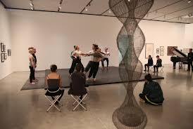 ica s black mountain brings its poetry into the spotlight the ruth asawa s hanging sculpture in sight boston conservatory students rehearsed work by choreographer merce