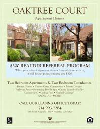 apartment referral flyer template program flyer apartment apartment rental flyer template