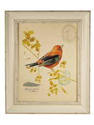 "Картина в винтажной <b>раме</b> ""Птичка оранжевая"" Elenadecor ..."