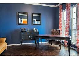 midnight bluenavy wall color red damask drapes classic black furniture black furniture wall color