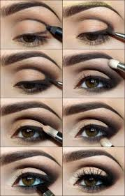 smokey eye makeup tutorial for brown eyes light
