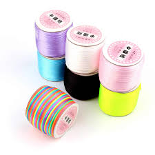 Crafts <b>TYRY</b>.<b>HU Colorful</b> 80 Meters Silk Rope Nylon Cord For Baby ...
