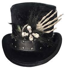Unisex Witch Doctor Voodoo <b>Skull</b> Bones <b>Top Hat</b> Fancy Dress ...