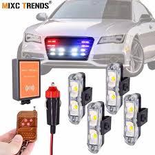 Wireless Remote Control Strobe <b>LED</b> Car <b>Lights 4X2 Leds</b> ...
