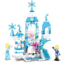 Online Shop 165pcs <b>Dream Princess Castle Elsa</b> Ice Castle ...