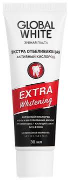 <b>Зубная паста GLOBAL</b> WHITE Древесный уголь/активный ...