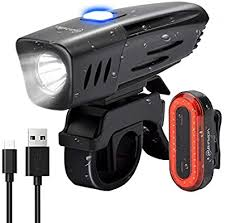 <b>Folding Laser Bike Light</b> Front Rear BicycleLight USB Rechargeable ...