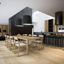black kitchen dining sets: black white pine kitchen dining room suite interior design ideas this second apartment introduces bold wood