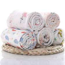 1Pc Muslin 100% <b>Cotton Baby</b> Swaddles <b>Flamingo</b> Multi use ...