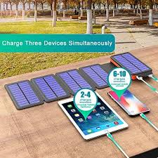 BLAVOR <b>Solar Charger</b> Five <b>Panels Detachable</b>, Qi Wireless ...