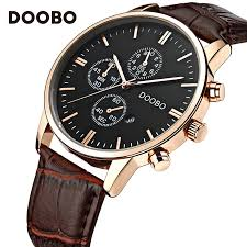 compare prices on michele mens watches online shopping buy low mens watches doobo top brand luxury leather strap gold watch men quartz watch clock men