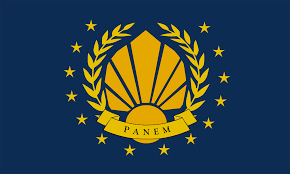 Image of the new flag of Panem.