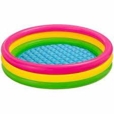 <b>Детский бассейн Intex</b> с надувным дном <b>Радуга</b> 114*25 см