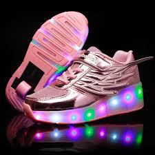<b>heelys</b> Children Glowing Sneakers Kids Roller <b>Skate Shoes</b> ...