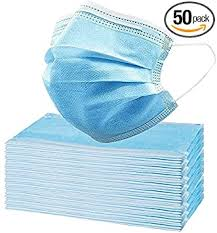 Disposable Face Masks - 50 PCS - For Home & Office ... - Amazon.com