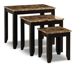 Roma <b>3</b>-<b>Piece Nesting Table</b> Package   The Brick