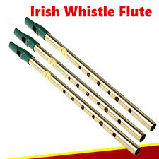 <b>Irish Whistle Flute Feadog</b> Tin 6 Holes Feadan Clarinet Flauta ...