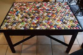 bottle cap covered table looking for a bottle cap project bottle cap furniture