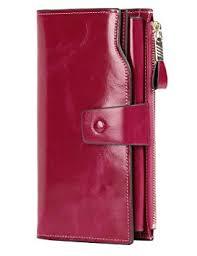 PARVENZA <b>Women's</b> RFID Blocking Large Capacity <b>Luxury</b> Wax ...