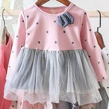 <b>Menoea</b> Baby Clothing 2019 Spring Pink <b>Girls</b> Dresses <b>Long Sleeve</b> ...