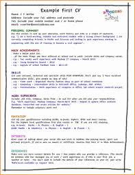 good cv examples for first job invoice template getting the hang of it take a look at our list of cv do s and