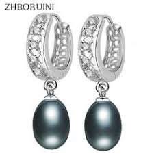 <b>ZHBORUINI 2019</b> New Fine Pearl Earrings <b>Natural</b> Freshwater ...