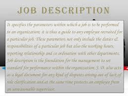 Job description & job specification JOB DESCRIPTION AND JOB SPECIFICATION OF FRONT OFFICE STAFF; 4.